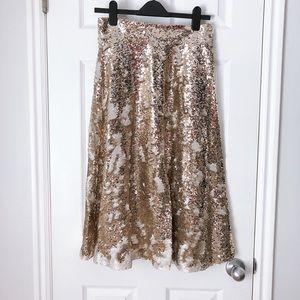 Eliza J Sequin Skirt